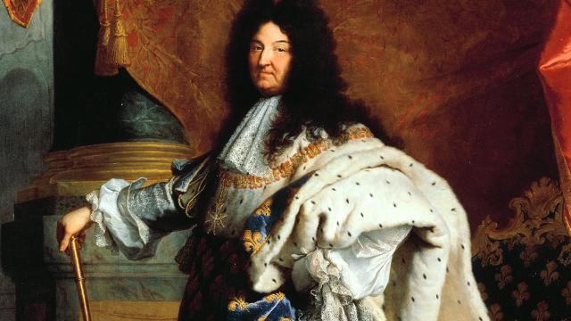 Portrait de Louis XIV en costume de sacre par Hyacinthe Rigaud en 1701